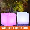 LED 50cmの多彩で装飾的なプラスチック立方体の椅子