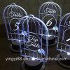 Gaiolas de pássaros acrílicos transparentes de qualidade superior para decoração