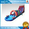 Diapositiva de agua inflable del juego gigante del deporte con la piscina y el arco