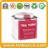 Il tè su ordinazione dello stagno può, carrello di tè, contenitore di stagno del tè