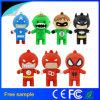 O herói Pendrive do batman do Ferro-Homem do superman da movimentação do flash do USB dos Avengers