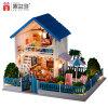 Casa de muñeca de madera del juguete de la familia feliz de la reunión