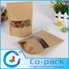 Kraft fino Paper Packaging Bags para Food Packing
