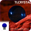 Escuro - esferas de cristal azuis de Feng Shui