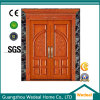 Personalizar a madeira maciça porta de entrada dupla para casas