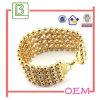 方法輝いた水晶によって個人化される金のブレスレット(BS090)