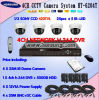 4CH Dome CCD Camera CCTV Equipment Systems (HT-6204T)