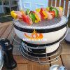 Poço do fogo do carvão vegetal da parte superior da mesa redonda