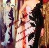 Sequins livres do vestido de noite do vestido das tarifas de Miriam do vestido da celebridade do transporte que perlam o ombro longo Custome da luva uma do querido