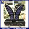 De aangepaste Grafstenen van het Graniet van het Ontwerp van de Vlinder Zwarte