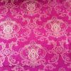Color rojo 100% del poliester con la tela de oro del punto para hacer tictac del colchón