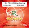 1.591 Optische Lenzen van de Deklaag van Shmc van de Visie van PC van de Lens van het polycarbonaat de Enige Blauwe