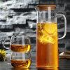 Питчера чая Америка экспорта чайник кувшина воды питья красивейшего стеклянного установленный стеклянный
