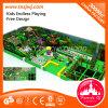 Campo de jogos macio da selva interna do parque de diversões para miúdos