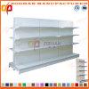 Doppia mensola parteggiata personalizzata Manufactured del negozio del supermercato (Zhs490)