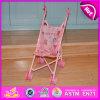 2015 hölzernes Baby - Puppe Pram, Kids Toy Import Girls Doll Pram Toy, Push Baby - Puppe Spaziergänger Toy, Pink Cute Doll Pram Wheels W06b032
