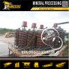 Máquina de concentración de espirales minerales de mineral de gravedad Máquina de procesamiento de oro móvil