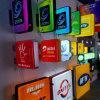 Placa do menu Exibição de publicidade, caixa de luz LED impermeável ao ar livre