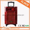 Roter Kasten-hölzerner materieller Leistungs-Ton-Laufkatze-Lautsprecher