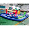 Grande piscina almofada insuflável Go Kart corrida pista insuflável/faixa/almofada insuflável jogos de desporto automóvel ar inflável pista para jogar jogo para crianças