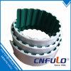 Courroie de distribution PU à extrémité ouverte avec tissu vert, à 10