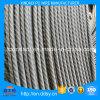 alambre de 6m m del hierro o del acero no aliado con las costillas espirales