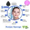 最も熱い顔のスポンジ100%の自然なKonjacスポンジ