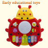 Nuevo Battery Operated Ladybug Piano Keyboard Musical Instrument Plastic Toy con Animal Sound