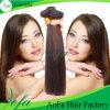 Weave reto brasileiro natural do cabelo humano de qualidade superior 100% de Brown