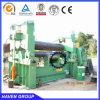 Máquina de dobra hidráulica elétrica W11S-6X3000 da placa de três rolos