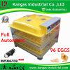 CE multifonction automatique homologué 96 Mini-incubateur de l'oeuf avec certificat CE