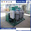 Tratamento de águas residuais, dispositivo de separação de água de óleo de coalescer