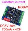 Konstantes Current 700mA Hohes-Power 4CH RGBW DMX Controller, Drive, DMX512 Decoder für LED Flood Light LED Wall Washer Lamp