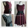O vestido clássico da manta de Vestir-Scotland, vestido da menina, mulheres veste-se (D-S013)