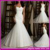 2015 nuovo Design Real Organza fuori da Shoulder Mermaid Wedding Dress (ASE005)