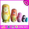 2018 Colorida Rússia, Matryoshka brinquedos de madeira bonecos de madeira brinquedo bebê intelectual de brinquedos de madeira W06D038