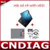 De scanner MB BR verbindt C4 voor Benz aan Laptop van het Scherm van de Aanraking van Lenovo Thinkpad X61t met de Recentste Volledige Reeks van de Software Klaar te gebruiken