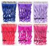 Prolonge colorée synthétique de cheveu bouclé avec 5 clips