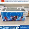 Congelador da caixa da porta de vidro de deslizamento do congelador do indicador do congelador do gelado