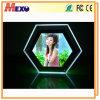 テーブルの上のアクリルの水晶LEDの写真フレームのライトボックス(CST01-HX-01)
