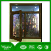 Quattro finestra di vetro di profilo di colore UPVC con l'elaborazione di parametri ed il portello della griglia