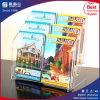Support acrylique de brochure de feuillet du livret explicatif 6-Pocket de la coutume A5 4 d'usine