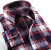 Camicia di vestito controllata marca dalla flanella di modo degli uomini