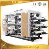 6 maquinaria de impressão Flexographic da película da cor PP/PE/Pet