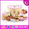 2015 새로운 도착 나무로 되는 생일 케이크 장난감, DIY 생일 선물 목제 케이크 장난감 세트, 다채로운 절단 실행 아이 실행 고정되는 장난감 (W10B102)