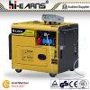 Type silencieux refroidi à l'air générateur diesel (DG6500SE+ATS)