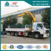 Crane XCMG 10 TonのSinotruk HOWO A7 Cargo Truck