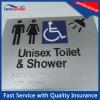 De zilveren Steen beëindigt Tekens van het Toilet van de Oppervlakte de Behandelende met Braille