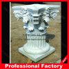 De la fábrica columna romana de mármol blanca directo