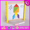 Soroban de madera de colores 10 Racks de madera de abalorios de juguete de juguetes, juguetes de contabilidad de educación Madera Abacus Rack con Junta magnética W12A020